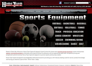 Home Team Sports & Apparel Website Home Page