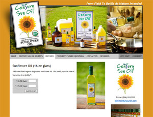 Century Sun Oil Product Detail Page