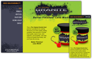 Granite Dust Premium Fishing Lure Coating